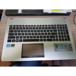 Korpuso apatinės dalies viršus su klaviatūra Asus N56VJ