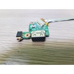 VGA ir T.T. išėjimų plokštė su šleifu Asus N56VJ